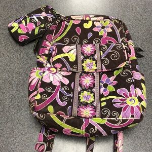 Vera Bradley Backpack and Wristlet